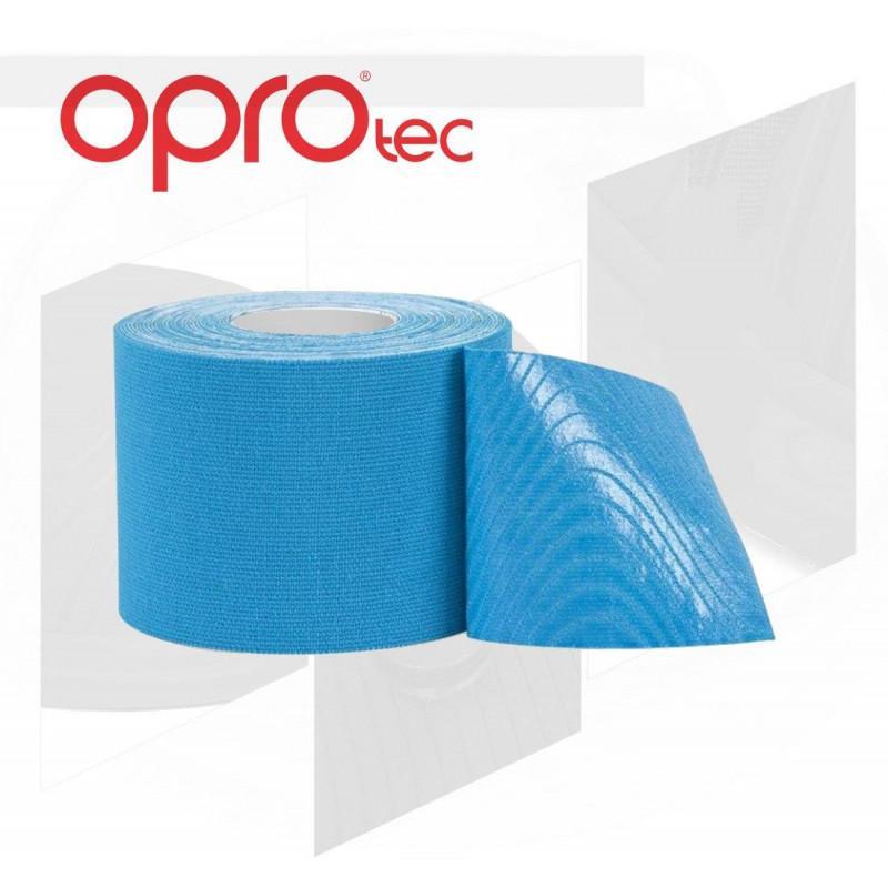 Кинезиологический тейп OPROtec Blue (01881) фото 2
