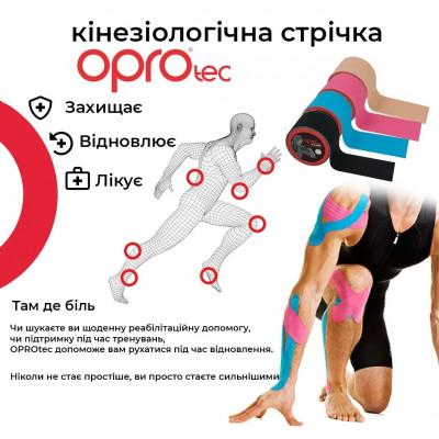 Кинезиологический тейп OPROtec Kinesiology Tape Black 5cм x 5м TEC57541 (01804) фото 3