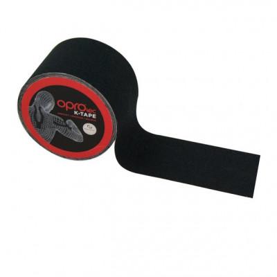 Кинезиологический тейп OPROtec Kinesiology Tape Black 5cм x 5м TEC57541 (01804) фото 1