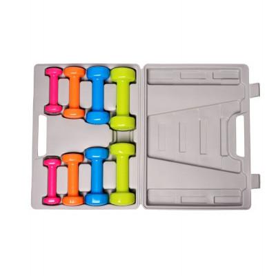 Набор гантелей в кейсе PowerPlay 4120 10 кг. (01801) фото 3