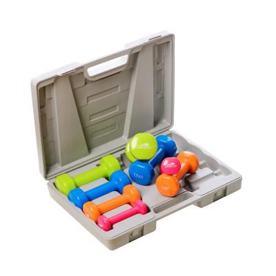 Набор гантелей в кейсе PowerPlay 4120 10 кг. (01801) фото 2