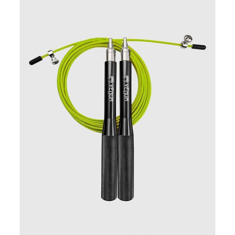 Скакалка Venum Thunder Evo Jump Rope Black/Yellow (02179) фото 1