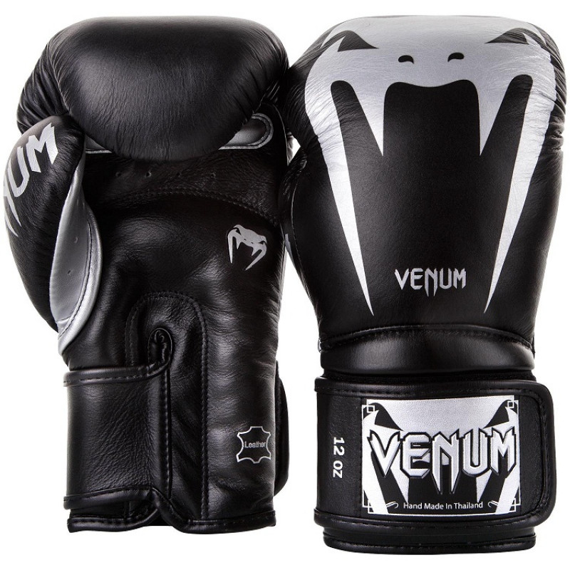Перчатки Venum Giant 3.0 Boxing Gloves Nappa B/Silver (01712) фото 2