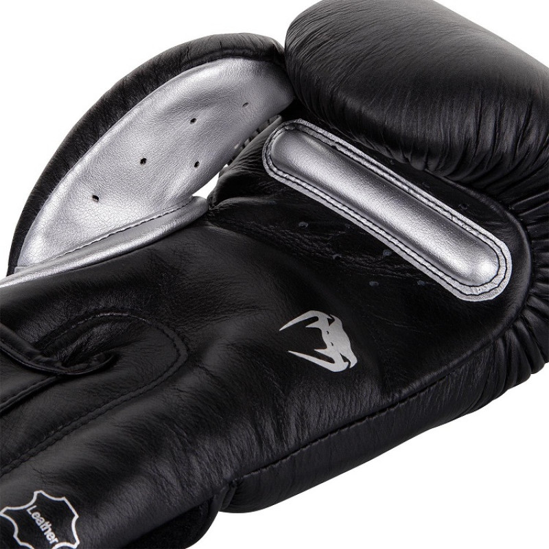 Перчатки Venum Giant 3.0 Boxing Gloves Nappa B/Silver (01712) фото 3
