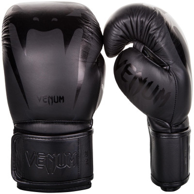 Перчатки Venum Giant 3.0 Boxing Gloves Nappa Black/Black (01710)