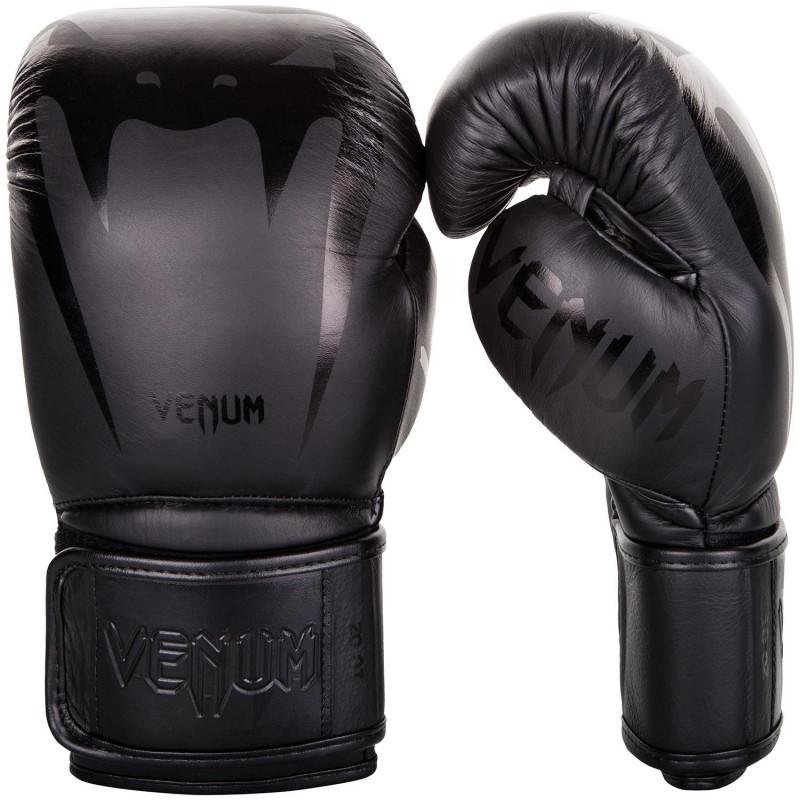 Перчатки Venum Giant 3.0 Boxing Gloves Nappa Black/Black (01710) фото 1