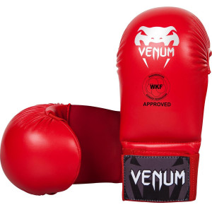 Перчатки Venum Karate Mitts Red WKF