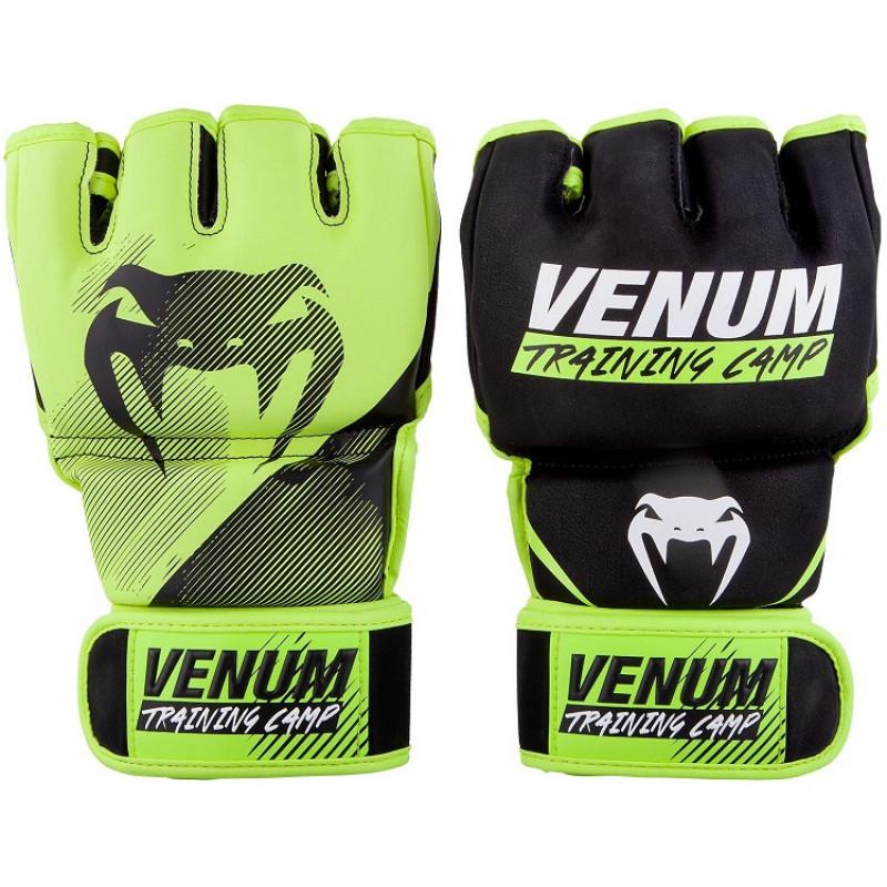 Перчатки Venum Training Camp 2.0 MMA Black/Neo (01749) фото 1