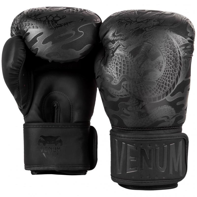 Перчатки Venum Dragons Flight Boxing Gloves Black/Black (01705) фото 2