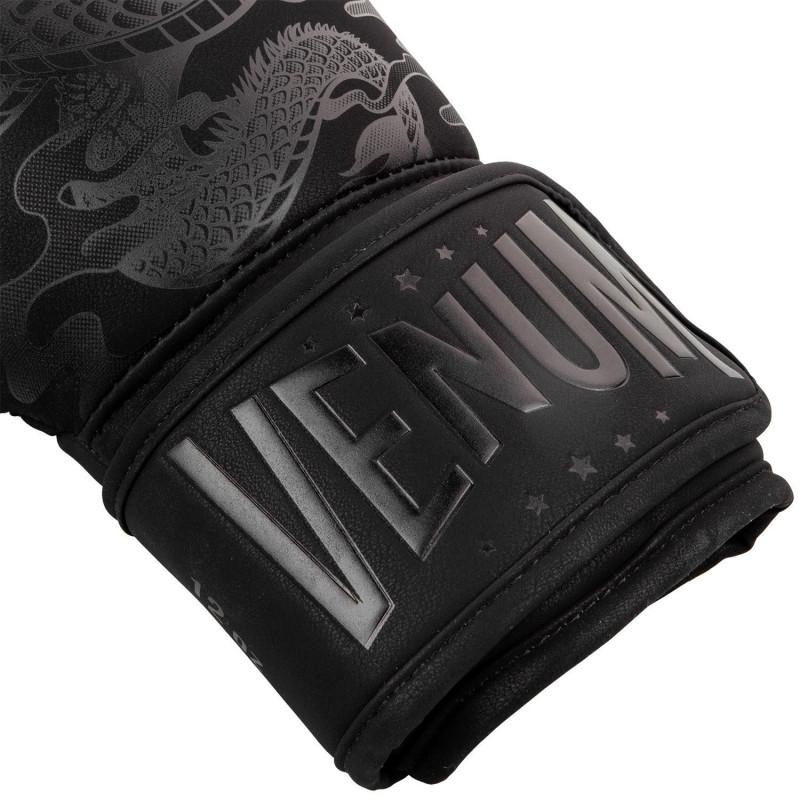Перчатки Venum Dragons Flight Boxing Gloves Black/Black (01705) фото 5