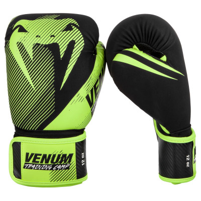 Перчатки Venum Training Camp 2.0 Boxing Black/Neo (01748) фото 3