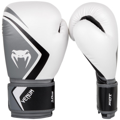 Перчатки Venum Boxing Gloves Contender 2.0 White/Grey (01550)