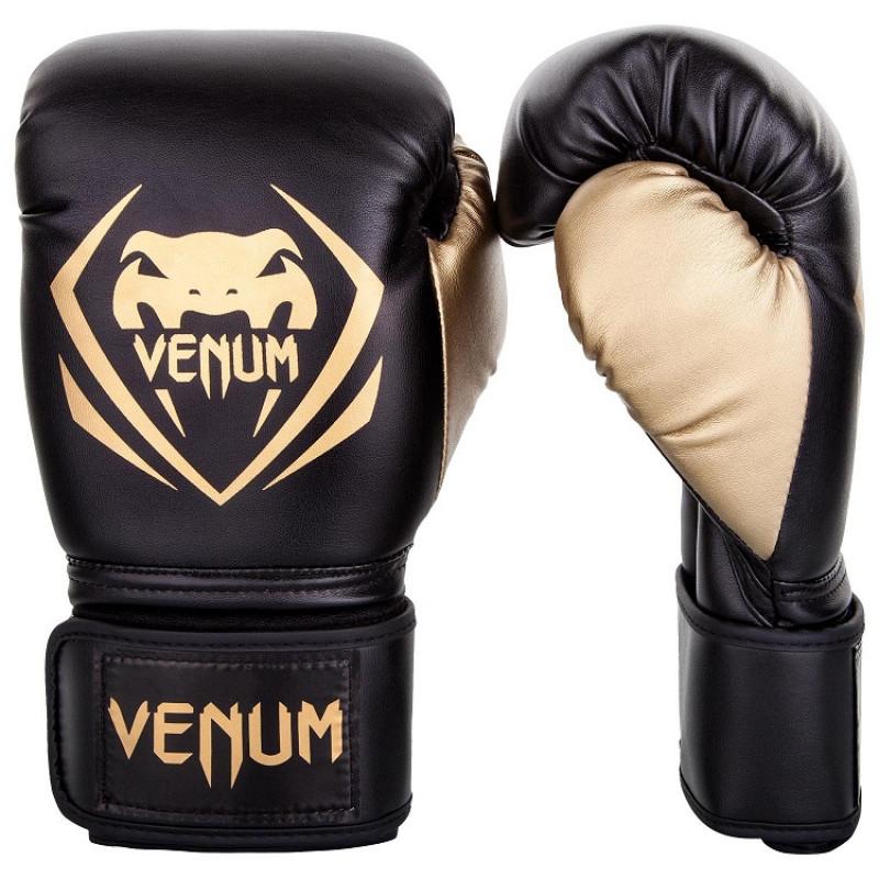 Перчатки Venum Contender Boxing Black/Gold (01357) фото 1