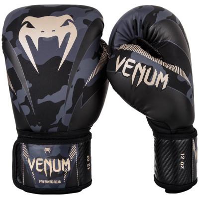 Перчатки Venum Impact Boxing Dark Camo/Sand (01358) фото 1