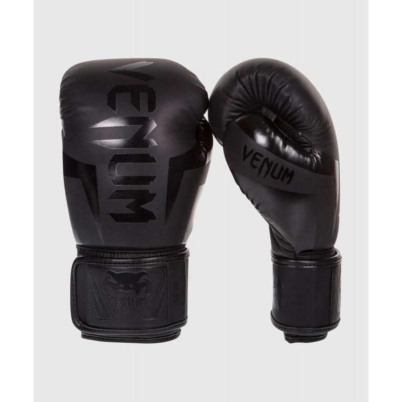 Боксёрские перчатки Venum Elite Boxing Glove Black (02184) фото 1