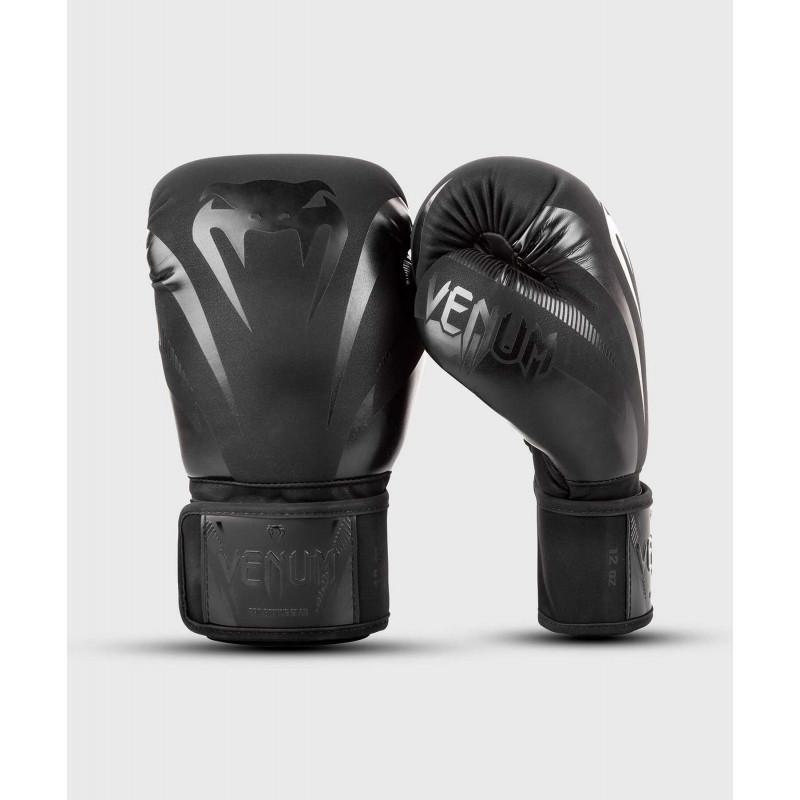 Боксёрские перчатки Venum Impact Boxing Gloves B/B (02027) фото 1