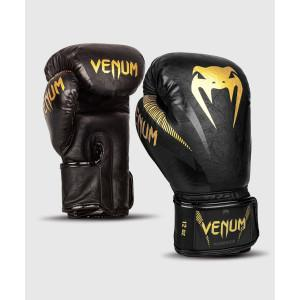 Перчатки Venum Impact Boxing Gloves Gold/Black