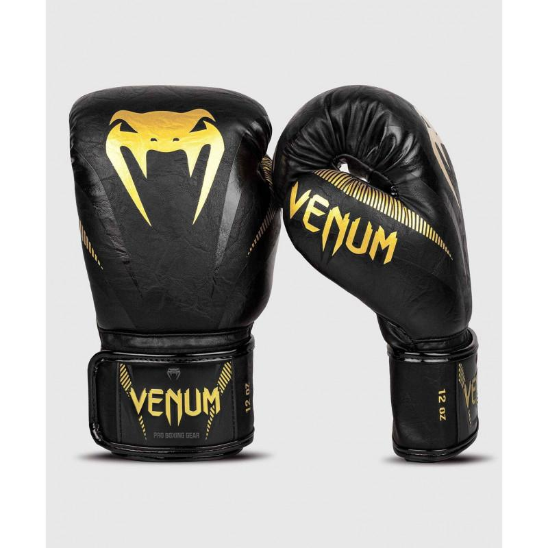 Рукавиці Venum Impact Boxing Gloves Gold/Black (02060) фото 2