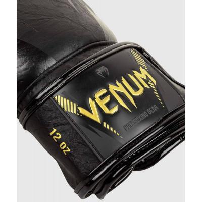 Рукавиці Venum Impact Boxing Gloves Gold/Black (02060) фото 3