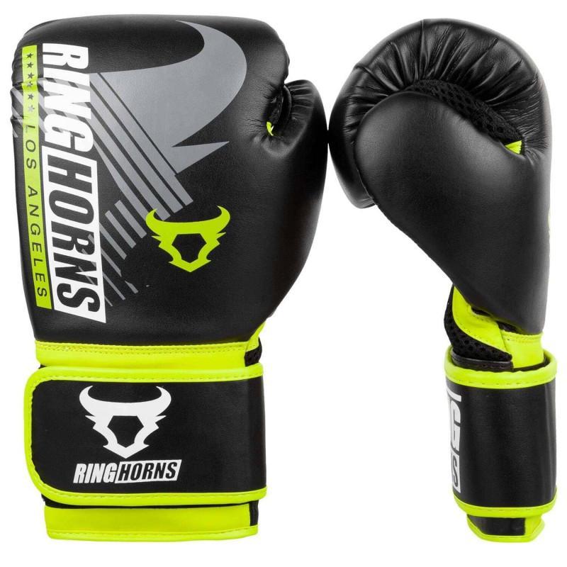 Рукавиці Ringhorns Charger MX Boxing Black/Neo Yellow (02169) фото 1