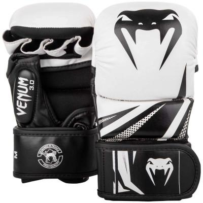 Перчатки для спаррингов Venum Challenger 3.0 Черные/Белые (01844)