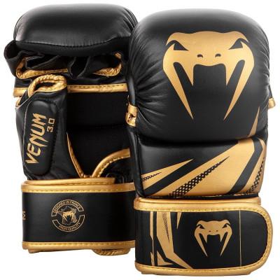 Перчатки Venum Challenger 3.0 Sparring Gloves Black/Gold (01577)