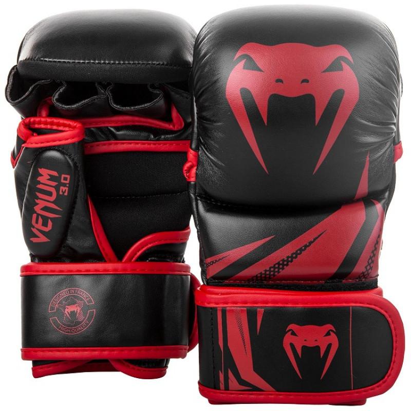 Перчатки Venum Challenger 3.0 Sparring Gloves Black/Red (01576) фото 1