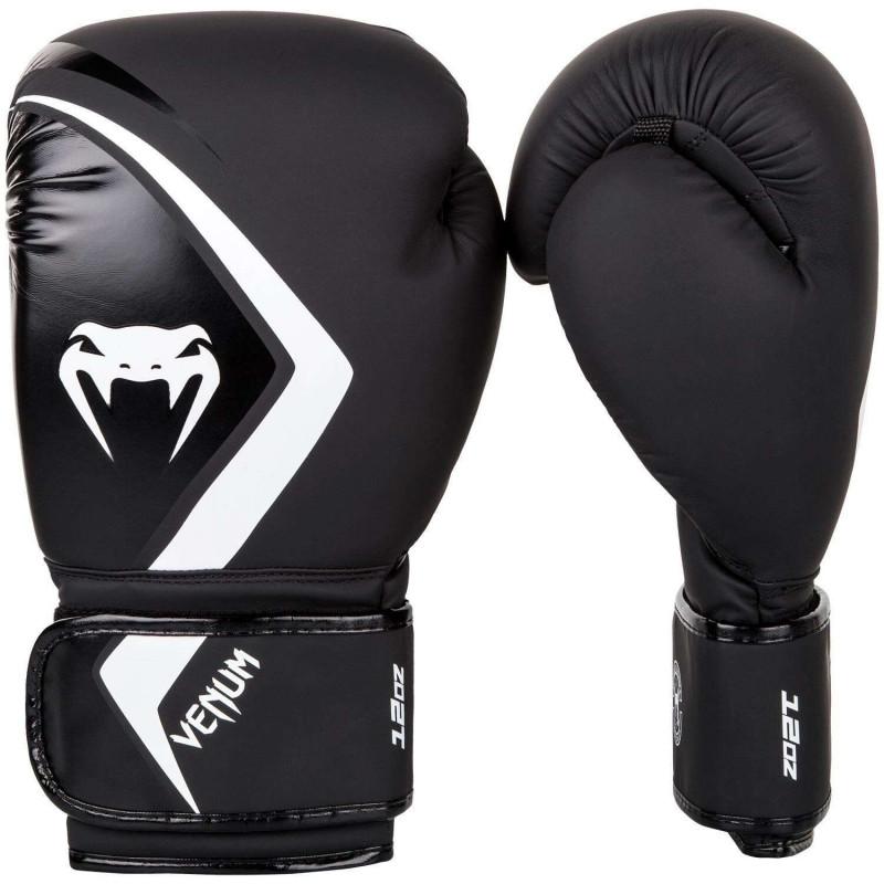 Боксерские перчатки Venum Contender 2.0 Чёрные/Серый (01558) фото 1