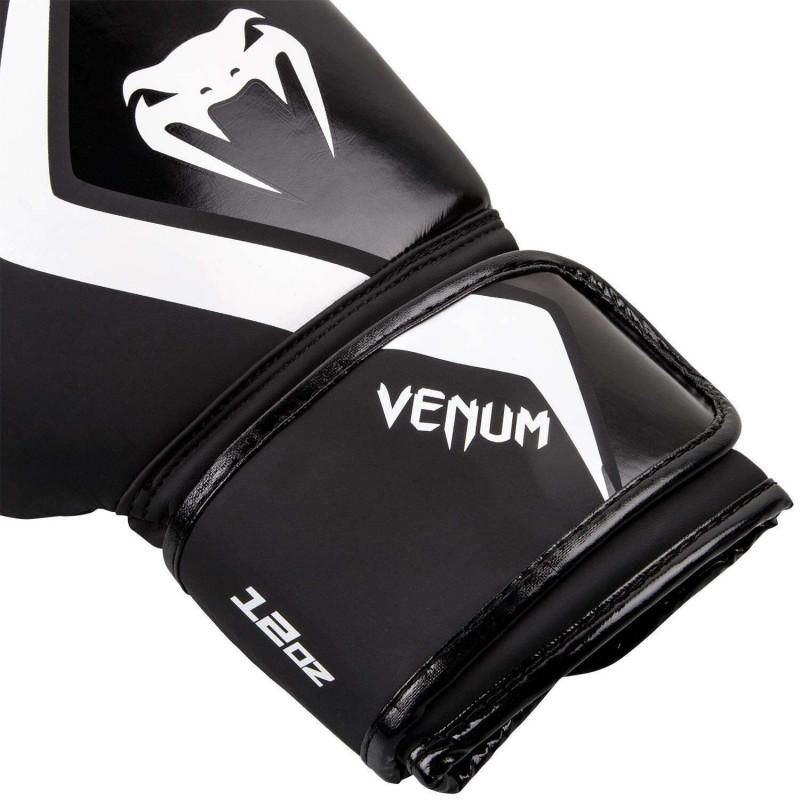 Боксерские перчатки Venum Contender 2.0 Чёрные/Серый (01558) фото 3