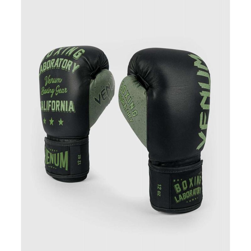 Перчатки Venum Boxing Lab Gloves Black/Green (02091) фото 1