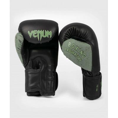 Перчатки Venum Boxing Lab Gloves Black/Green (02091) фото 2
