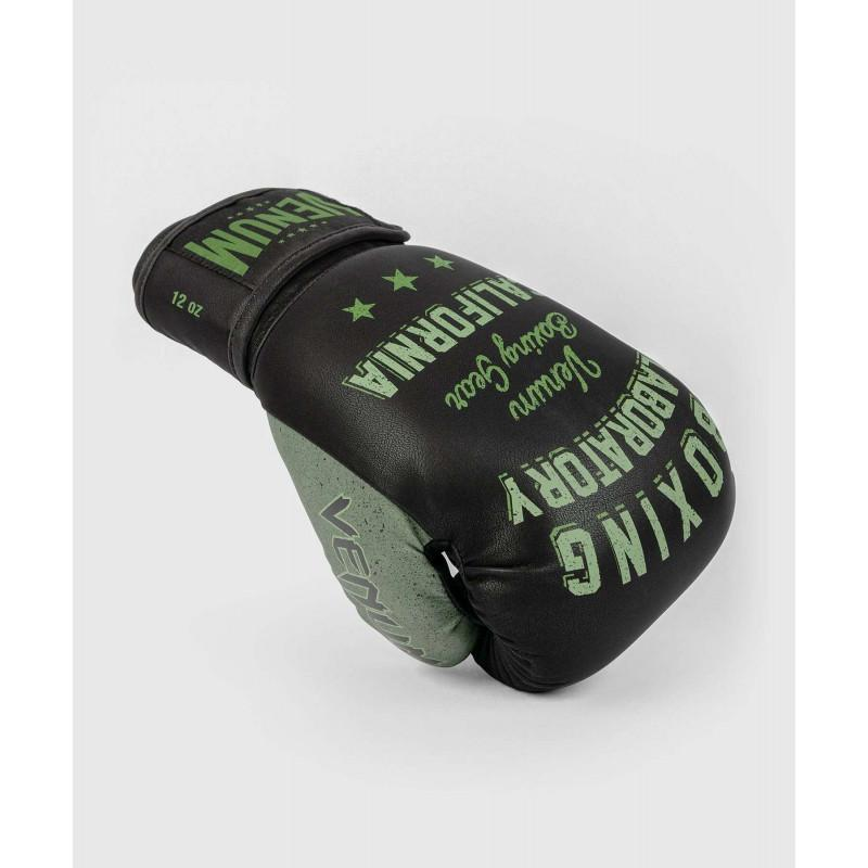 Перчатки Venum Boxing Lab Gloves Black/Green (02091) фото 3