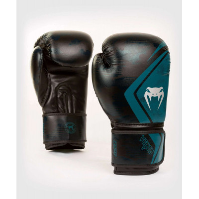 Перчатки Venum Defender Contender 2.0 Black/Green (01969) фото 1