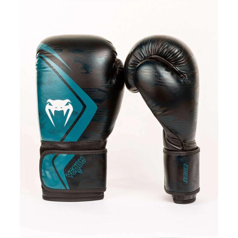 Перчатки Venum Defender Contender 2.0 Black/Green (01969) фото 2