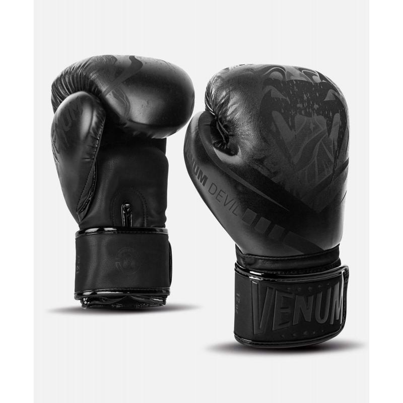 Рукавиці Боксерські рукавиці Venum Devil Чорний/Чорний (01992) фото 1