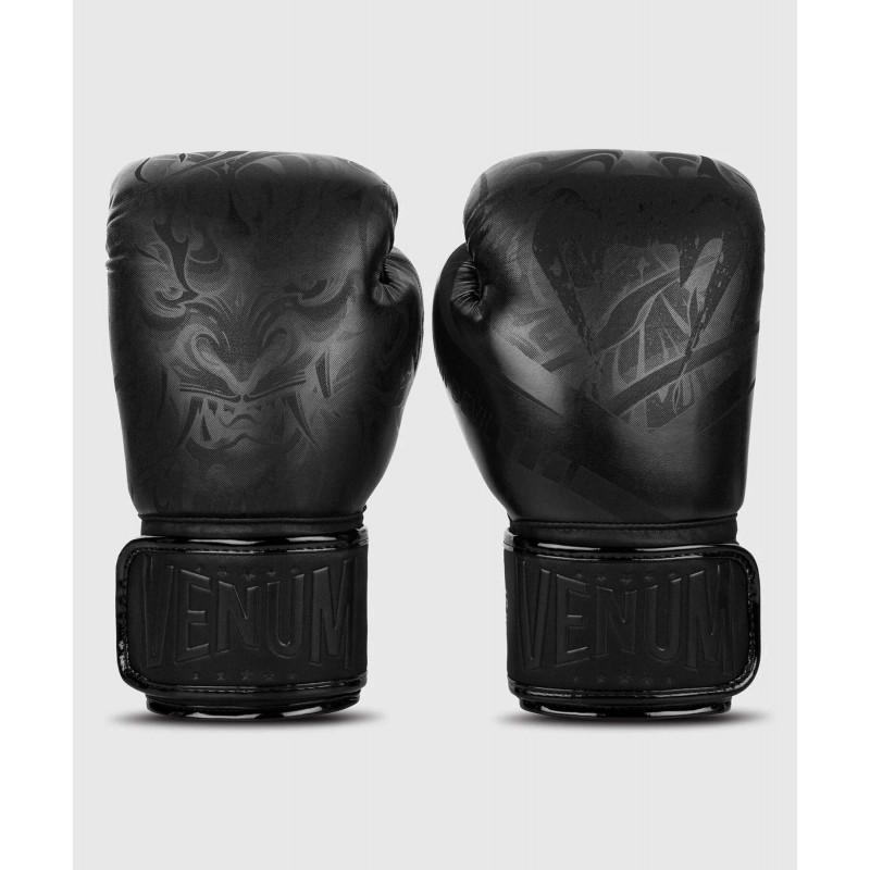Рукавиці Боксерські рукавиці Venum Devil Чорний/Чорний (01992) фото 3