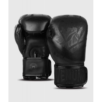 Рукавиці Боксерські рукавиці Venum Devil Чорний/Чорний (01992) фото 4