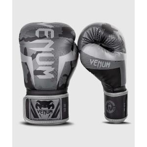 Перчатки Боксерські рукавиці Venum Elite Чорний/Темний камуфляж