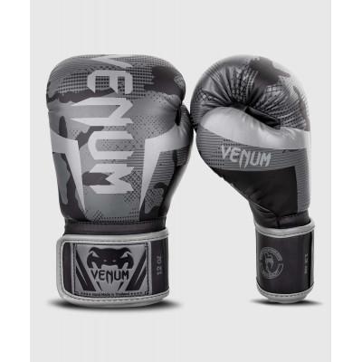Перчатки Venum Elite Boxing Gloves Black/Dark camo (01999) фото 1