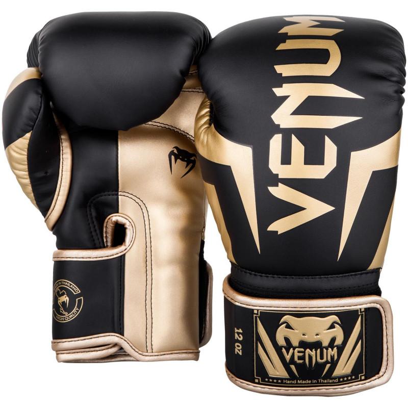Боксерські рукавиці Venum Elite Чорні/Золото (01846) фото 2