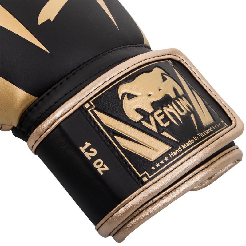 Боксерські рукавиці Venum Elite Чорні/Золото (01846) фото 3
