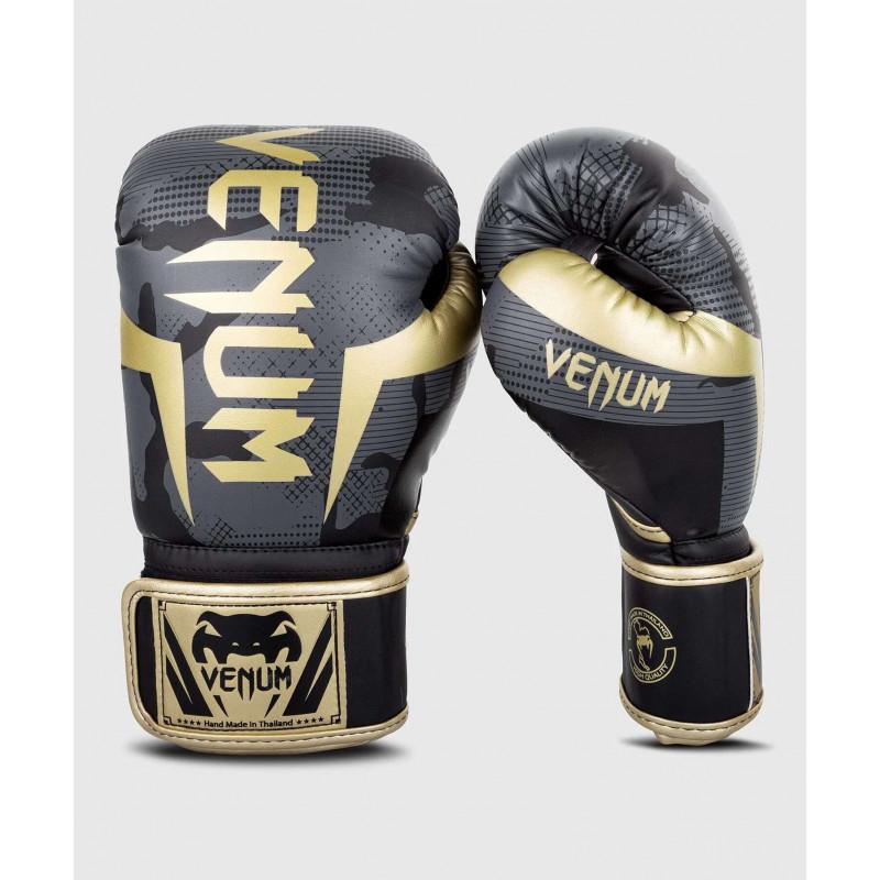 Боксерські рукавиці Venum Elite Темний камуфляж/Золото (02000) фото 1