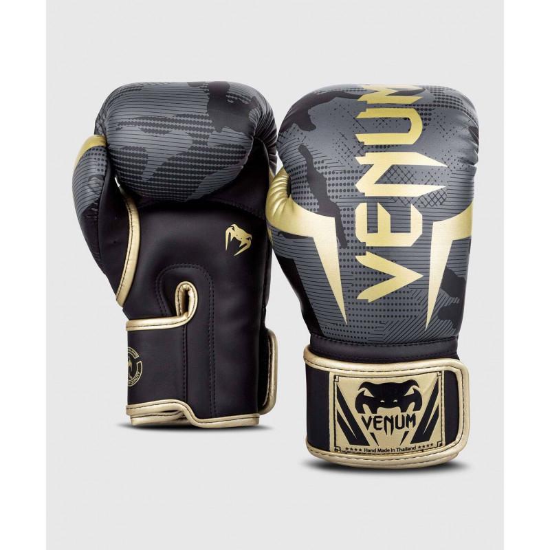 Перчатки Venum Elite Boxing Gloves Dark camo/Gold (02000) фото 2