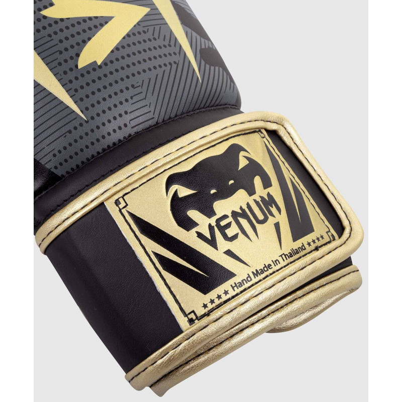 Перчатки Venum Elite Boxing Gloves Dark camo/Gold (02000) фото 3