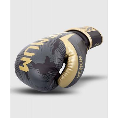 Перчатки Venum Elite Boxing Gloves Dark camo/Gold (02000) фото 4