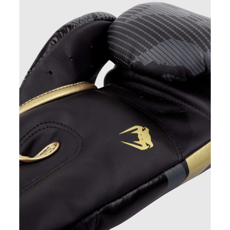 Перчатки Venum Elite Boxing Gloves Dark camo/Gold (02000) фото 5