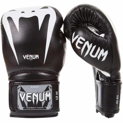Боксерские перчатки Venum Giant 3.0 Nappa Чёрные (01845) фото 1