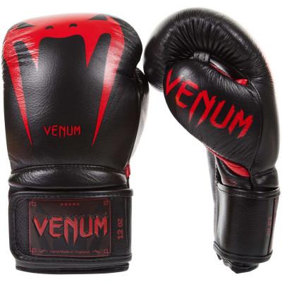 Боксерские Перчатки Venum Giant 3.0 Nappa Black/Devil (01879) фото 1