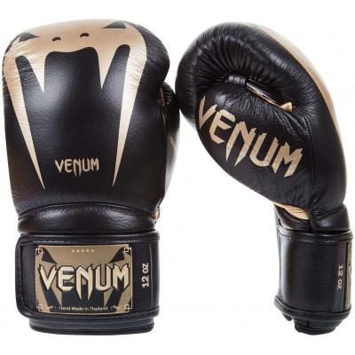 Боксерские Перчатки Venum Giant 3.0 Nappa Чёрные/Золото (01878) фото 1