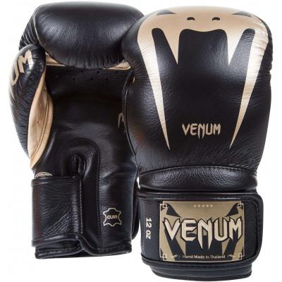 Боксерские Перчатки Venum Giant 3.0 Nappa Чёрные/Золото (01878) фото 2